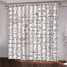 ZFSZSD blackout curtain for bedroom Mathematical