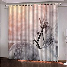 ZFSZSD blackout curtain for windows Animals &