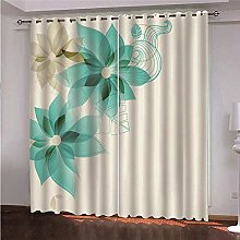 ZFSZSD Blackout curtains Green&Flower Window
