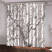 ZFSZSD Blackout Kids Curtains White & Marble