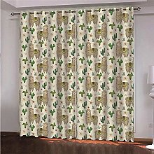 ZFSZSD Curtain for Girls Animals & Alpacas Eyelet