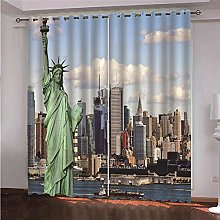ZFSZSD Curtain for Girls Liberty Blackout Room