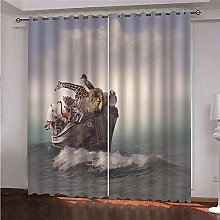 ZFSZSD Curtain for Girls Sailing & Animals For