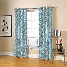 ZFSZSD Kids Blackout Curtains Blue & flowers for