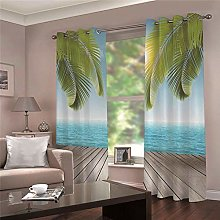 ZFSZSD Kids Blackout Curtains Blue sea Printed