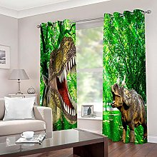 ZFSZSD Kids Blackout Curtains Green & Dinosaur for
