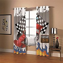 ZFSZSD Printed Kids Blackout Curtains Racing car