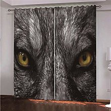 ZFSZSD Soft Curtain Animals & Leopards Print Light