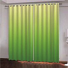 ZFSZSD Soft Curtain Green & pattern blackout