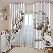 ZFSZSD Thermal Insulated Bedroom Curtain Abstract