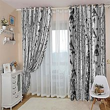 ZFSZSD Thermal Insulated Bedroom Curtain White