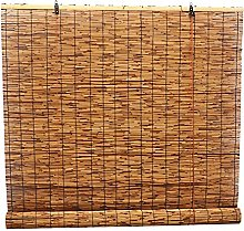 ZGC Natural Reed Curtain,Vintage Bamboo Roller