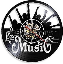 zgfeng Vinyl Wall Clock Rock Record Desk Clock 3D