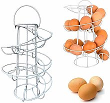 ZGL Spiral Egg Basket, Iron Egg Holder Stand