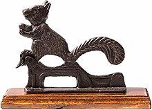 ZGPTX Cast Iron Squirrel Walnut Clip Country