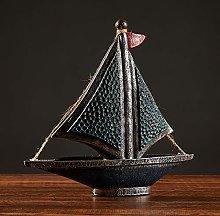 ZGPTX Creative Nordic Sailboat Model Props