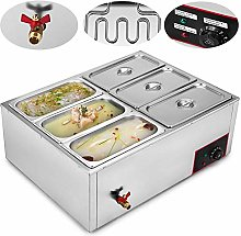 ZGYQGOO 220V Commercial Food Warmer 6 Tray