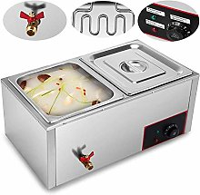 ZGYQGOO 220V Commercial Food Warmer 6 Tray