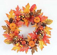 ZGYQGOO Thanksgiving Autumn Wreath Decoration