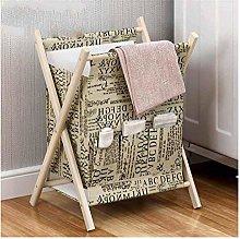 ZHANG Folding Laundry Hamper,Yellow Letter Wooden