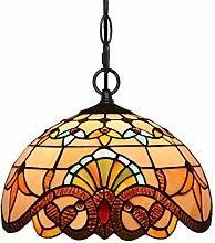 ZHANGDA 12 Inch Lamps Tiffany Style Pendant