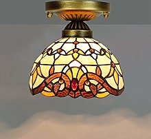 ZHANGDA Baroque Ceiling Light Fixture Flush Mount,