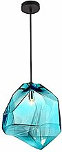 ZHANGDA Modern Glass Pendant Light, Round Pendant