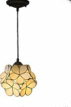 ZHANGDA Tiffany Style Flower Glass Pendant Lamp 8
