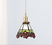 ZHANGDA Tiffany Style Pendant Lamp 6 Inch Vintage
