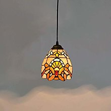 ZHANGDA Tiffany Style Pendant Lamp Stained Glass