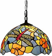 ZHANGDA Tiffany Style Pendant Lamp, Sunflower