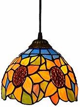 ZHANGDA Tiffany Style Pendant Light 8-Inch