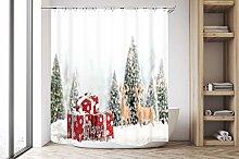 zhanghui2018 Christmas white snow scene red gift