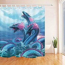 zhangqiuping88 Deep sea blue dragon pattern shower