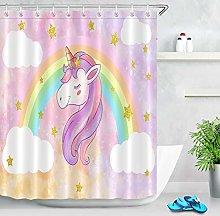 zhangqiuping88 Fairytale Rainbow Unicorn Bathroom