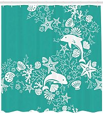 zhangqiuping88 Fish Dolphins and Flowers Print for