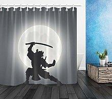 zhangqiuping88 Japanese Samurai Moon Shower