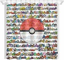 zhangqiuping88 Pokemon ball shower curtain