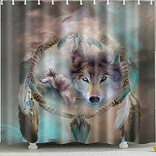 zhangqiuping88 Wolf head shower curtain Durable