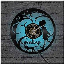 ZhangXF Coraline Remote Wall Clock, 1 * AA Battery