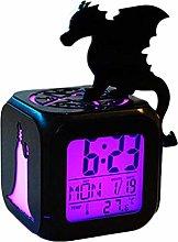 ZhangXF Superhero Dragon Witch Queen Alarm Clock,
