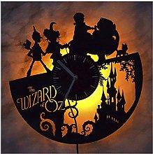 ZhangXF The Wizard of Oz Vinyl Record Wall Clock,