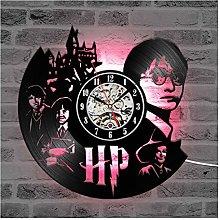 ZhangXF Vinyl Record Wall Clock, LED Luminous