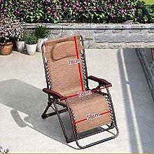 ZHANGYY Folding Chair with Headrest, Garden Sunbed
