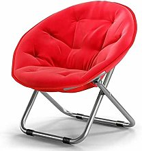 ZHANGYY Folding Sofa Saucer Chair with Metal Frame