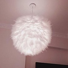 ZHANGYY Pendant Lights Feather Ceiling Lampshade,