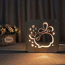 ZHANGYY Table Lamp Bedside Cute Whale Cartoon