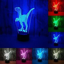 ZHANGYY Table Lamp Bedside Dinosaur 3D Illusion