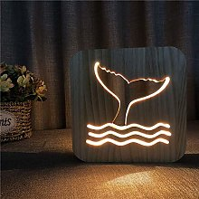 ZHANGYY Table Lamp Bedside Wooden Night Light Cute