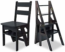 ZHANGYY Wooden Stool Sturdy Wood Ladder Wooden